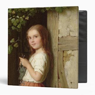 Chica joven que se coloca en una entrada que hace