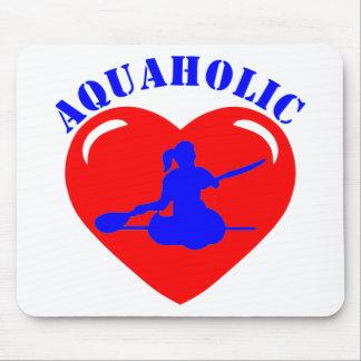 Chica Kayaking del amor Alfombrilla De Ratón