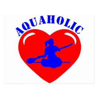 Chica Kayaking del amor Tarjeta Postal