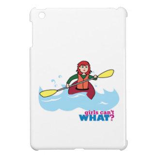 Chica Kayaking - luz/rojo