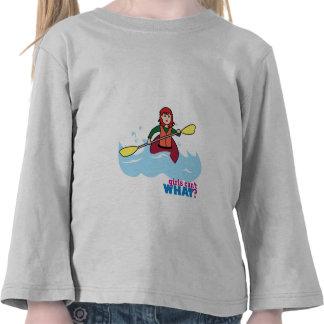 Chica Kayaking - luz/rojo Camisetas
