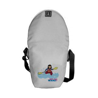 Chica Kayaking - medio Bolsas De Mensajería