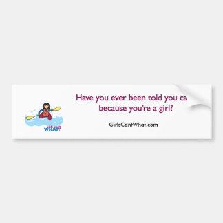 Chica Kayaking - medio Pegatina Para Auto