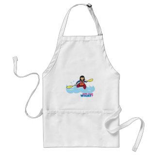 Chica Kayaking - medio Delantal