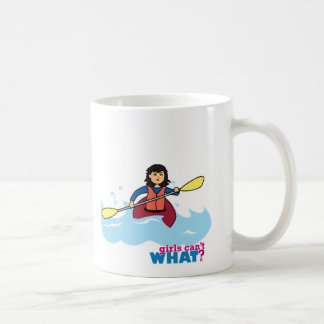 Chica Kayaking - medio Taza Clásica
