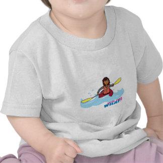 Chica Kayaking Camisetas