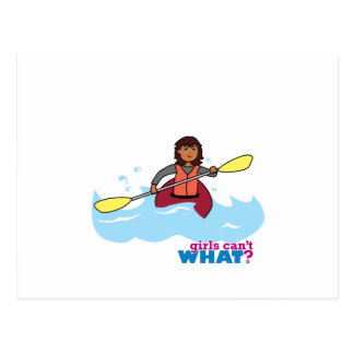 Chica Kayaking Postal