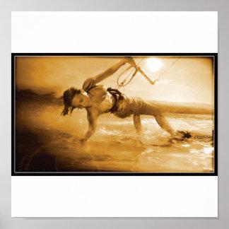chica kiteboarding impresiones