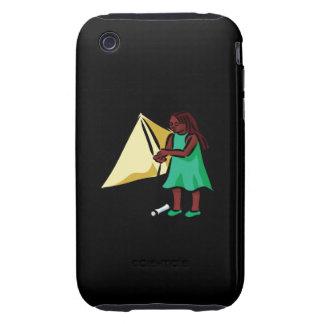 Chica Kiting iPhone 3 Tough Carcasa