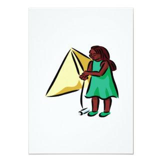 """Chica Kiting Invitación 5"""" X 7"""""""