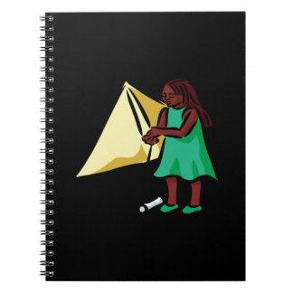Chica Kiting Libreta Espiral