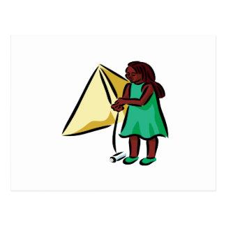 Chica Kiting Postal