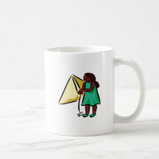Chica Kiting Taza De Café