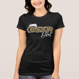 Chica-Leopardo de GSXR con la impresión trasera Polera