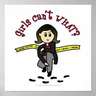 Chica ligero de CSI Póster