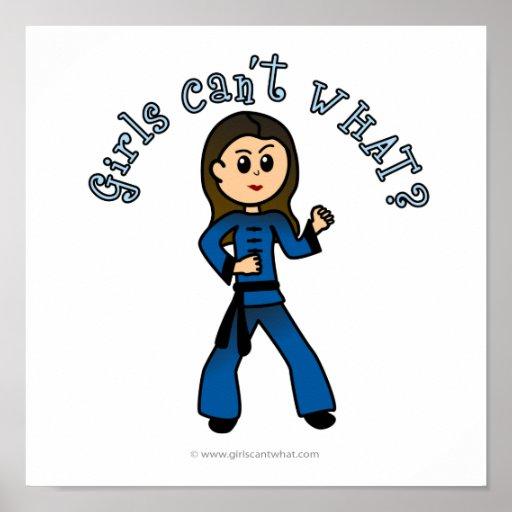 Chica ligero de Kung Fu Poster