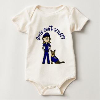 Chica ligero de la policía K9 Mameluco De Bebé