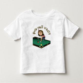 Chica ligero de los billares tee shirt