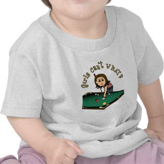 Chica ligero de los billares camisetas