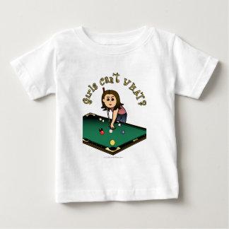 Chica ligero de los billares tee shirts