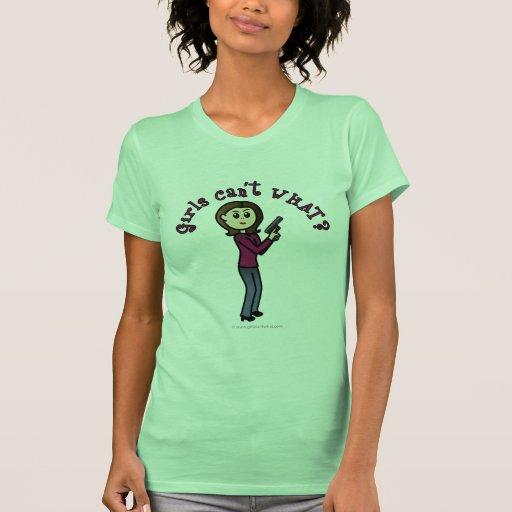 Chica ligero del buen tirador camiseta