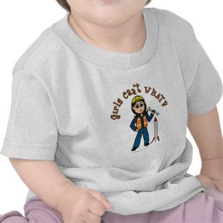 Chica ligero del científico de Rocket Camisetas