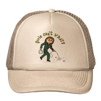 Chica ligero del control de parásito gorras de camionero