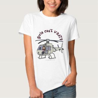 Chica ligero del helicóptero remera