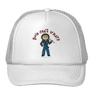 Chica ligero del mecánico gorras de camionero