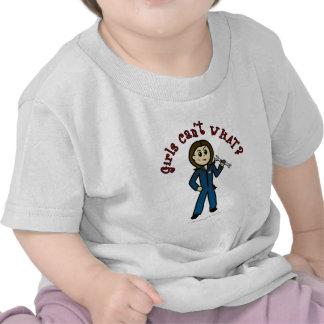 Chica ligero del mecánico camiseta