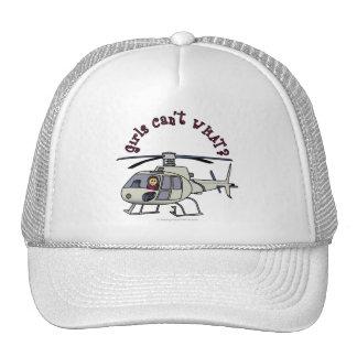 Chica ligero del piloto del helicóptero gorras de camionero