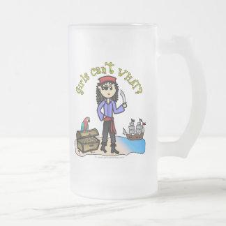 Chica ligero del pirata taza