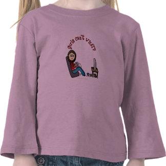 Chica ligero del videojugador camisetas