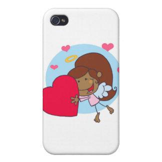 Chica lindo con el corazón iPhone 4 protector