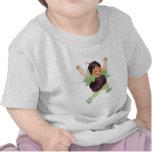 Chica lindo de Blackberry del vintage Camisetas