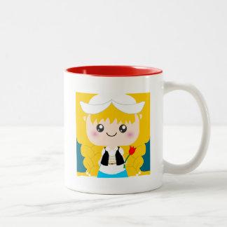 Chica lindo/de Kawaii del holandés de Squeable de  Taza De Café
