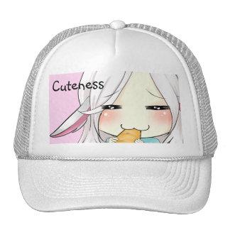 Chica lindo del chibi con el gorra de los oídos de