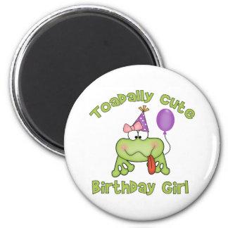 Chica lindo del cumpleaños de Toadally Imanes Para Frigoríficos