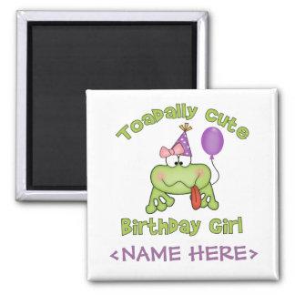 Chica lindo del cumpleaños de Toadally Imán De Frigorifico
