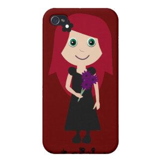 Chica lindo del gótico del Redhead de Gothalicious iPhone 4 Coberturas