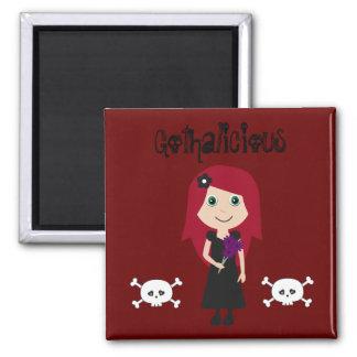 Chica lindo del gótico del Redhead de Gothalicious Imán De Frigorifico