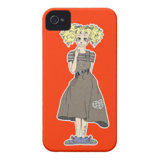 chica lindo del manga iPhone 4 Case-Mate protector