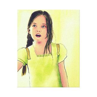 Chica lindo del pequeño niño impresiones de lienzo