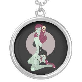 Chica lindo del Pin-Para arriba del zombi Collares Personalizados
