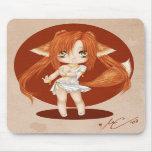 Chica lindo Mousepad del Fox Tapete De Raton