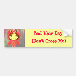 Chica lindo - mún día del pelo no me cruce pegatina de parachoque