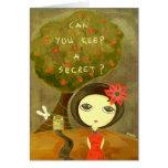 ¿Chica lindo - puede usted guardar un secreto? Felicitación