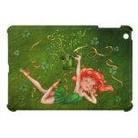Chica marchosa del trébol iPad mini carcasas