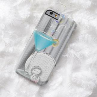 chica marchosa moderna de los vidrios azules de funda para iPhone 6 barely there
