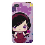 Chica Mayumi de Lolita iPhone 4 Protectores